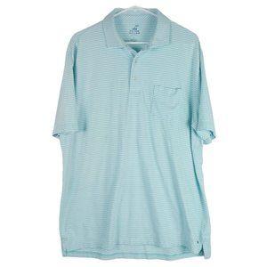 Peter Millar Seaside Wash Stripe Polo Golf Shirt L